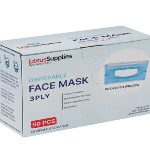 Box of Face Masks with Window